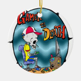 Gamer til Death Ceramic Ornament