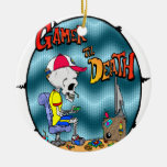 Gamer til Death Double-Sided Ceramic Round Christmas Ornament