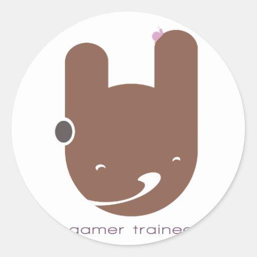 Gamer Trainee Classic Round Sticker