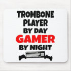 Gamer Trombone Player Mouse Pad