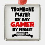 Gamer Trombone Player Ornament