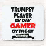 Gamer Trumpet Player Mouse Pad