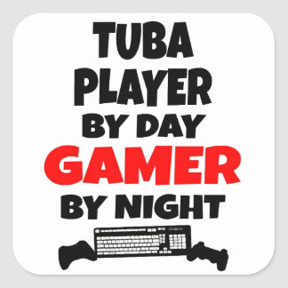 Gamer Tuba Player Square Sticker