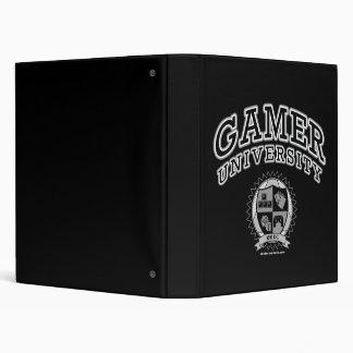 Gamer University (Black & White) 3 Ring Binder