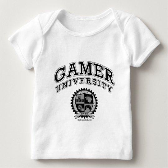 Gamer University (Black & White) Baby T-Shirt