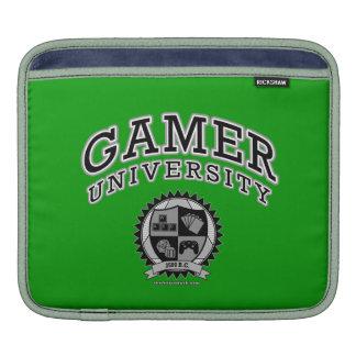 Gamer University (Black & White) iPad Sleeves