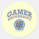 Gamer University Classic Round Sticker