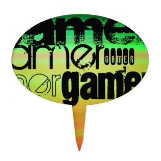 Gamer; Vibrant Green, Orange, & Yellow