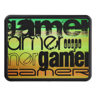 Gamer; Vibrant Green, Orange, & Yellow Hitch Covers