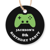 Gamer Video Game Party Thank You Personalized Favor Tags
