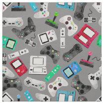 Gamer Watercolor Video Gaming Controllers Fabric
