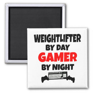 Gamer Weightlifter Magnet