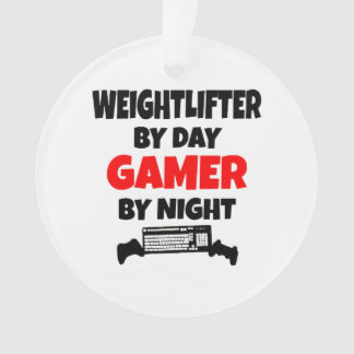 Gamer Weightlifter Ornament
