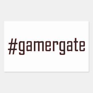GamerGate Hashtag Rectangular Sticker