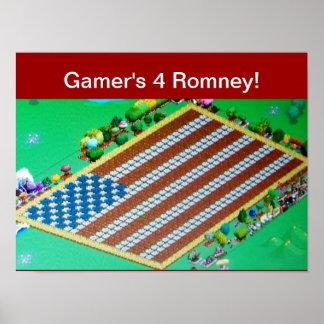 Gamer's 4 Romney! Posters