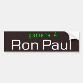 gamers 4 Ron Paul Car Bumper Sticker