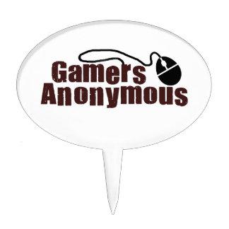 Gamers Anonymous Cake Picks