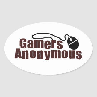 Gamers Anonymous Oval Sticker
