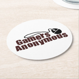 Gamers Anonymous Round Paper Coaster