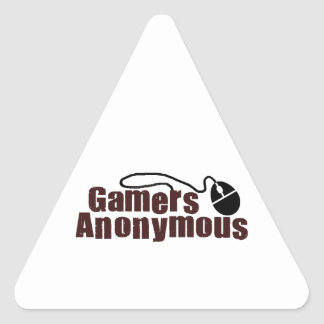 Gamers Anonymous Triangle Sticker