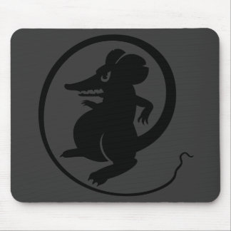 Gamers Black & Gray Aggression Mouse Mousepad