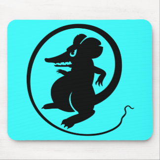 Gamers Black Turquoise Aggression Mouse Mousepad