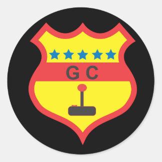 gamers club.ai classic round sticker