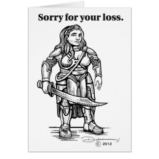 Gamer's Condolences Card