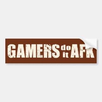 Gamers do it AFK Bumper Sticker