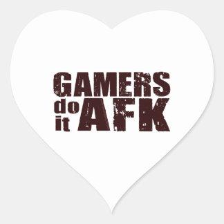 Gamers do it AFK Heart Sticker