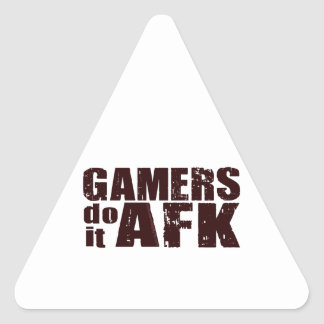 Gamers do it AFK Triangle Sticker
