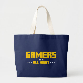 Gamers Do It All Night Jumbo Tote Bag