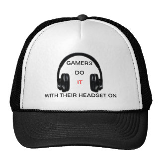 Gamers Do It.. With Their Headset On! Trucker Hat