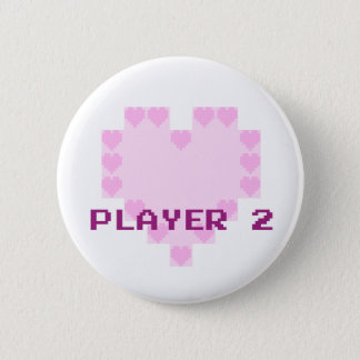 Gamers in Love - Player 2 Pinback Button