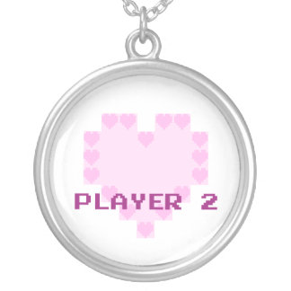 Gamers in Love - Player 2 Round Pendant Necklace