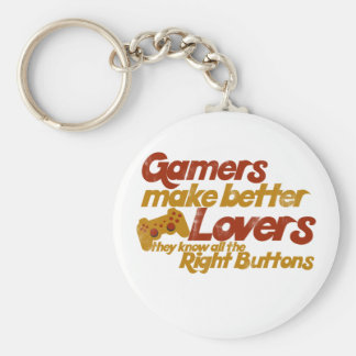Gamers make better lovers basic round button keychain