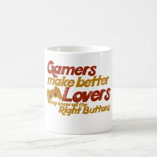 Gamers make better lovers coffee mug