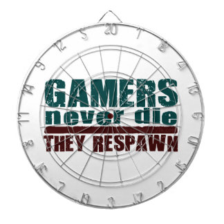 Gamers Never Die... Dartboard With Darts