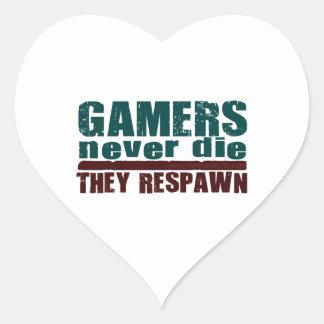 Gamers Never Die... Heart Sticker