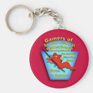 Gamers of South Central PA Basic Round Button Keychain