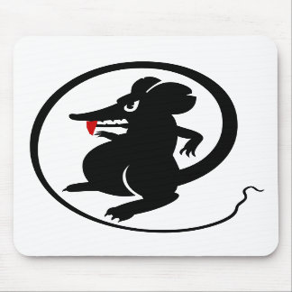 Gamers Red Fang Aggressive Players Mouse Mousepad