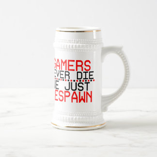 Gamers Respawn Beer Stein