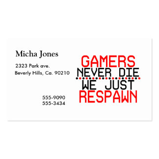 Gamers Respawn Business Card