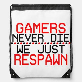 Gamers Respawn Drawstring Bag