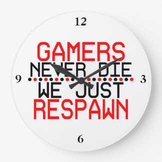 Gamers Respawn Large Clock