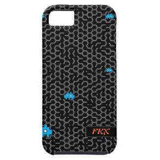 Gamers retro Arcade 5 case for iPhone5 black hex iPhone 5 Case