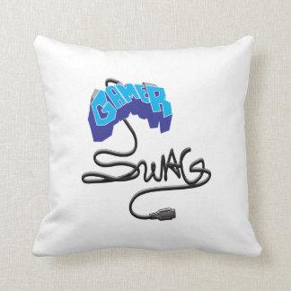 GamerSwag Controller blue Throw Pillows