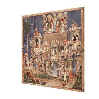 Games and entertainment of the Trojans Canvas Print