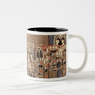 Games and entertainment of the Trojans Two-Tone Coffee Mug