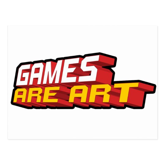 Games Are Art - Gamer Gaming Video Game Postcard
